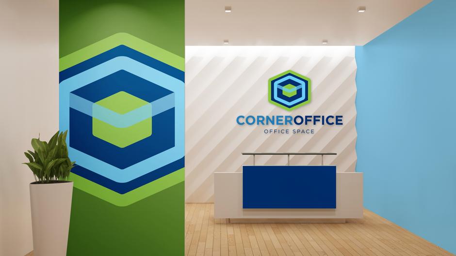 Corner Office Interior Branding