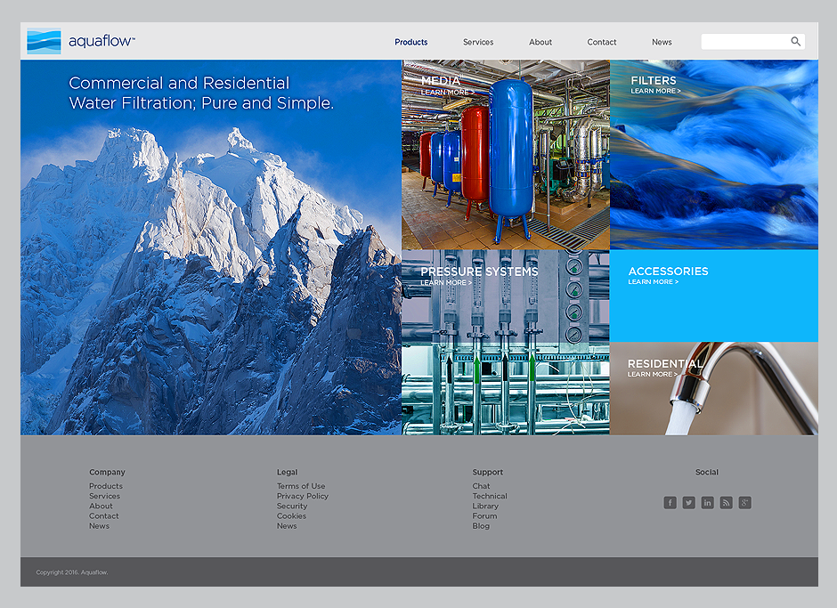 Aquaflow Website